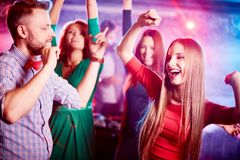 Dancing in group Royalty Free Stock Photography