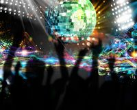 Dancing in nightclub Royalty Free Stock Images