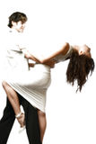Dancing teen couple, happy and funny Stock Photography