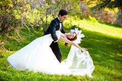 Dancing wedding couple Stock Photo
