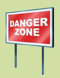 Danger plate 02 Royalty Free Stock Photo