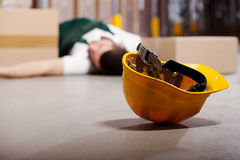 Dangerous accident during work Royalty Free Stock Photo