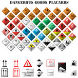 Dangerous goods placards Stock Photo