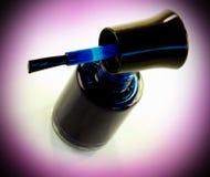 Dark blue nail varnish Stock Image
