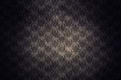Dark Grunge Wall Background With Retro Pattern Royalty Free Stock Image