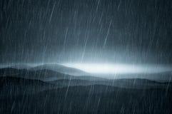 Dark landscape with rain Royalty Free Stock Photos