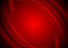 Dark red smooth wavy background Royalty Free Stock Images