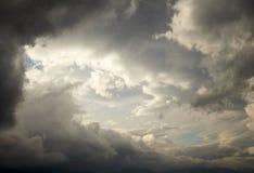 Dark storm clouds Stock Photos