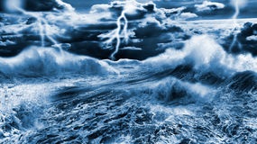 Dark stormy sea Stock Image