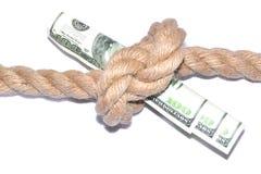 Das Diagramm des Fallens einer Kinetik Beendigung der Finanzierung Stockfoto