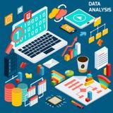 Data analysis isometric Stock Images