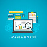 Data and analytical research icon Royalty Free Stock Photo