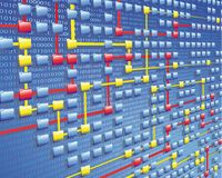 Data flow Stock Photo
