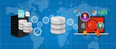 Data integration database connect media files chart analysis Stock Photo
