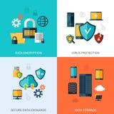 Data Protection Set Stock Photography