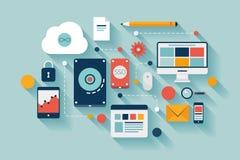 Data storage concept illustration Royalty Free Stock Photography