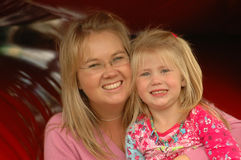 Daughter with mom Royalty Free Stock Images
