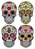 Day Of The Dead Skull Vector Set Stock Images