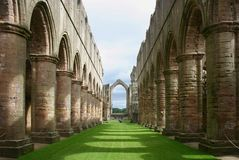 De Abdij van fonteinen - Yorkshire - Engeland Royalty-vrije Stock Afbeelding
