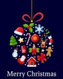 De Bal van de Pictogrammen van Kerstmis Royalty-vrije Stock Foto's