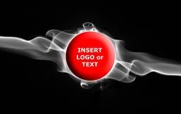 De Banner van de rook - tekst in vlam Stock Foto's