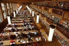 De bibliotheek van de student Stock Afbeeldingen