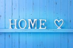 De Blauwe Achtergrond van de huisliefde Royalty-vrije Stock Afbeelding