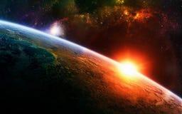 De essentie van ruimte Stock Afbeelding