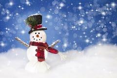 De gelukkige sneeuwman van Kerstmis Royalty-vrije Stock Fotografie