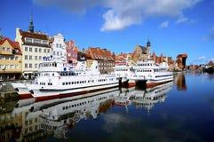 De haven van Gdansk, Polen Stock Fotografie