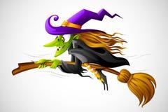 De Heks van Halloween Stock Afbeeldingen