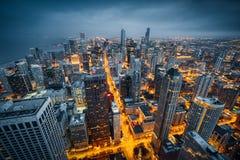 De horizon van Chicago Royalty-vrije Stock Afbeelding