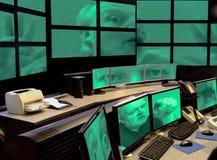 De joker speeltruc van de computerhakker op veiligheidssysteem. Royalty-vrije Stock Foto's
