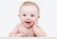 De jongen van de baby het stellen Royalty-vrije Stock Foto's