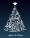 De Kaart van de Groet van de kerstboom Stock Fotografie