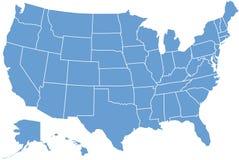 De kaart van Verenigde Staten Royalty-vrije Stock Afbeelding