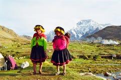 De Kinderen van de Berg van Peru Stock Afbeeldingen