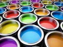 De kleurenpalet van verfblikken Stock Fotografie