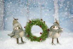 De Kroon van de Vogels van Kerstmis Royalty-vrije Stock Afbeelding