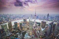 De luchtmening van Shanghai Royalty-vrije Stock Afbeeldingen