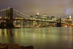 De nachthorizon van New York Royalty-vrije Stock Fotografie