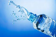 De plons van het water van fles Royalty-vrije Stock Foto