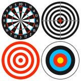 De Reeks van het dartboard en van het Doel Stock Afbeelding