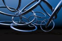 De Ringen van het chroom Royalty-vrije Stock Fotografie