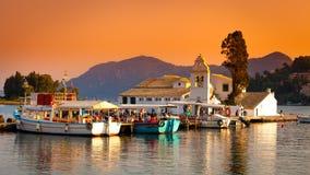 De Stad van Korfu, Griekenland Stock Foto's