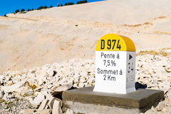 De steen Mont Ventoux van het niveau Stock Foto