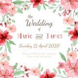 De uitnodigingskaart van het huwelijk Royalty-vrije Stock Afbeeldingen