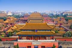 De Verboden Stad van Peking China Stock Foto's