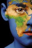 De verf van het gezicht - Afrika Stock Afbeeldingen