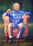 De zegel van Nelson Mandela Royalty-vrije Stock Foto